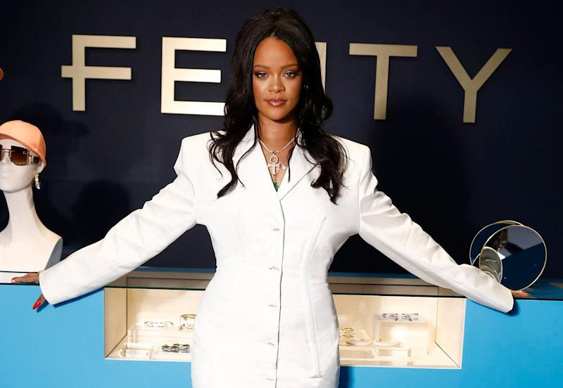 Rihanna has been praised online for not airbrushing models used in the Fenty campaign [Photo: Getty]