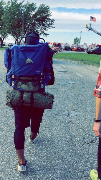 PHOTO: Travis Snyder walked 810 miles in 42 days to raise awareness for veteran suicide prevention. (Courtesy Travis Snyder)