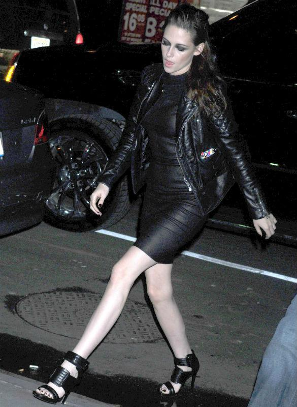 Kristen Stewart Goes Futuristic In Leather A.L.C Dress & Explains Converse On The Red Carpet