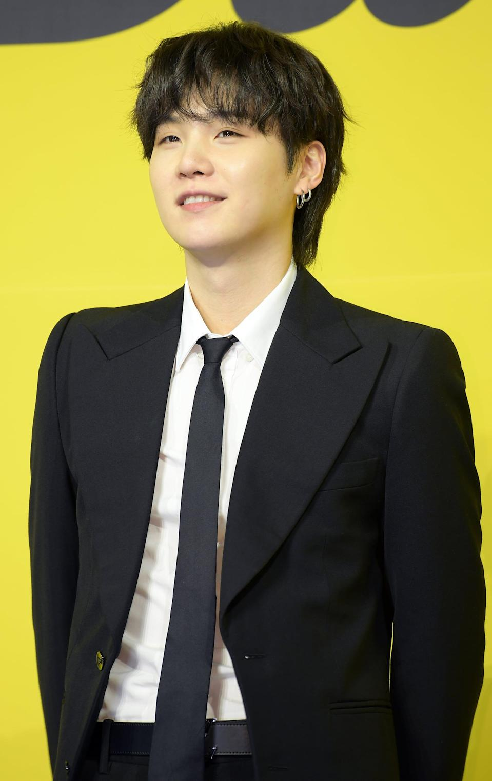 <p>Suga doesn't have any tattoos yet.</p>