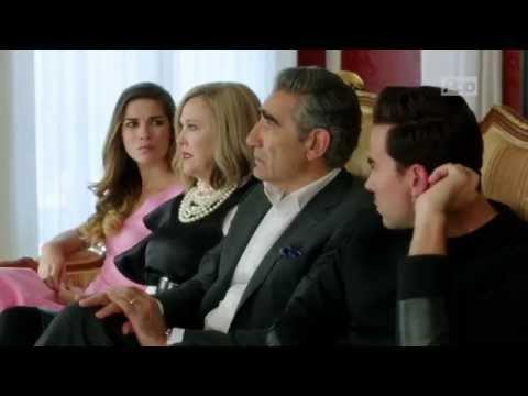 """<p>When the incredibly wealthy Rose family suddenly loses everything, they are forced to leave the lap of luxury and relocate to Schitt's Creek—a run-down town they once bought as a joke. The Rose bunch attempts to adjust to their new life, and it's not pretty.</p><p><a href=""""https://www.youtube.com/watch?v=W0uWS6CnC2o"""" rel=""""nofollow noopener"""" target=""""_blank"""" data-ylk=""""slk:See the original post on Youtube"""" class=""""link rapid-noclick-resp"""">See the original post on Youtube</a></p>"""