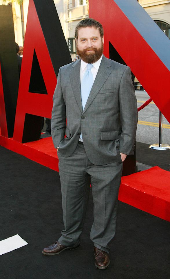 """<a href=""""http://movies.yahoo.com/movie/contributor/1805534781"""">Zach Galifianakis</a> attends the Los Angeles premiere of <a href=""""http://movies.yahoo.com/movie/1810187722/info"""">The Hangover Part II</a> on May 19, 2011."""