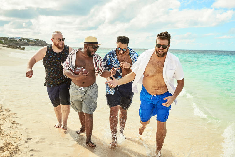 Sturgell and friends on set of the Swimsuits For All xKingSize summer swimwear collection. Image via Chubstr.