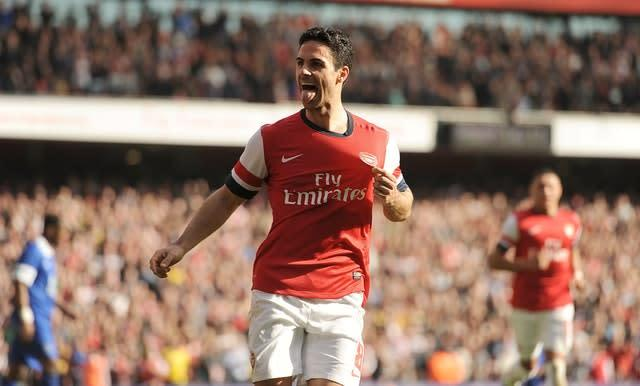 Mikel Arteta spent five years as a player at Arsenal (Andrew Matthews/PA)