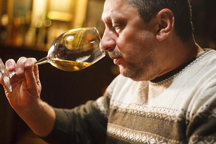 Oleksandr Kovach is a 47-year-old vintner in Ukraine, which is enjoying a revival and branching out into more sophisticated wines after suffering a devastating blow from Russia's annexation of its main vineyards in Crimea. (AFP Photo/Sergiy GUDAK)