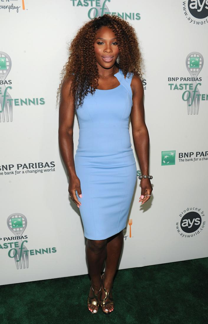 NEW YORK, NY - AUGUST 22: Tennis Pro Serena Williams attends the 14th Annual BNP Paribas Taste Of Tennis at W New York Hotel on August 22, 2013 in New York City. (Photo by Bryan Bedder/Getty Images for BNP Paribas)