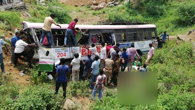 Telangana: 52 Dead, Including 6 Children, After Bus Falls in Valley in Jagtial District