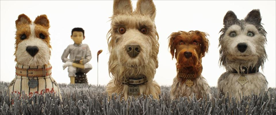 """<p>Yes, Wes Anderson is on Disney+! The director's 2018 animated film features a lineup of his usual onscreen collaborators - this time, however, they all voice dogs.</p> <p><a href=""""https://www.disneyplus.com/movies/isle-of-dogs/3Ypmb1WnRXCH"""" class=""""link rapid-noclick-resp"""" rel=""""nofollow noopener"""" target=""""_blank"""" data-ylk=""""slk:Watch Isle of Dogs on Disney+."""">Watch <b>Isle of Dogs</b> on Disney+.</a></p>"""