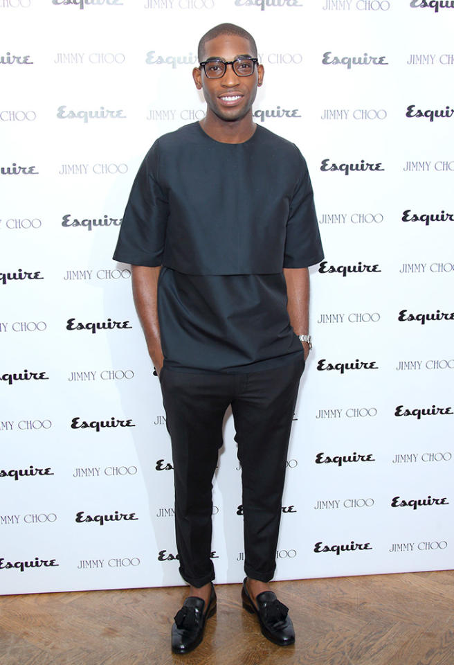 LONDON, ENGLAND - JUNE 16:  Tinie Tempah attends a party hosted by Jimmy Choo & Esquire during the London Collections SS14 on June 16, 2013 in London, England.  (Photo by Mike Marsland/WireImage)