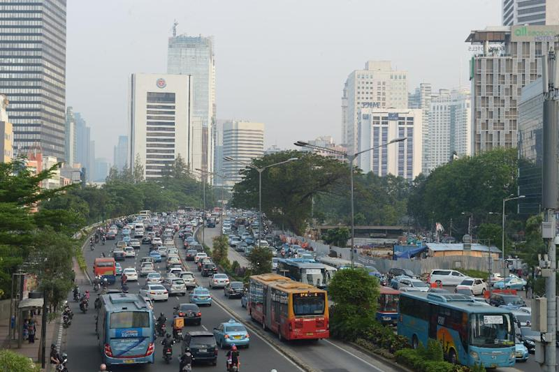 Jakarta pictured during rush hour on July 3, 2014