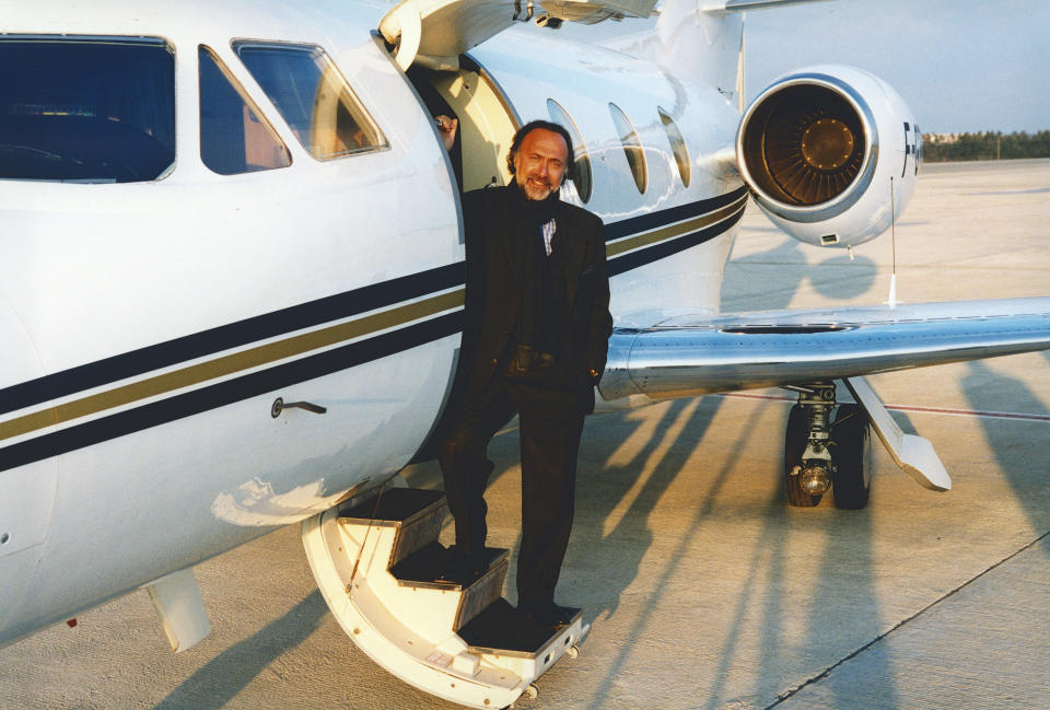Olivier Dassault Poses in front his Private Plane on October 9, 2003 in Le Bourget, France.