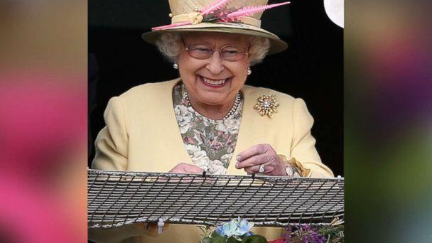 PHOTO: Queen Elizabeth II watches the racing from the Royal Box at Epsom Racecourse on June 6, 2015 in Epsom, England. (Chris Jackson/Getty Images)
