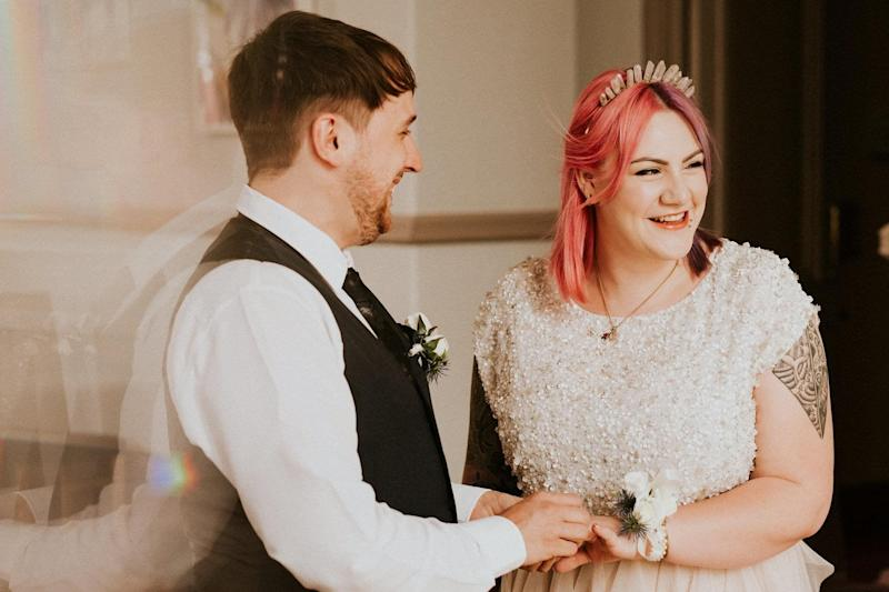 Matthew Mee and Gema Mee (née Bate) getting married at Leeds registry office (Photo: Shutter Go Click Photography)