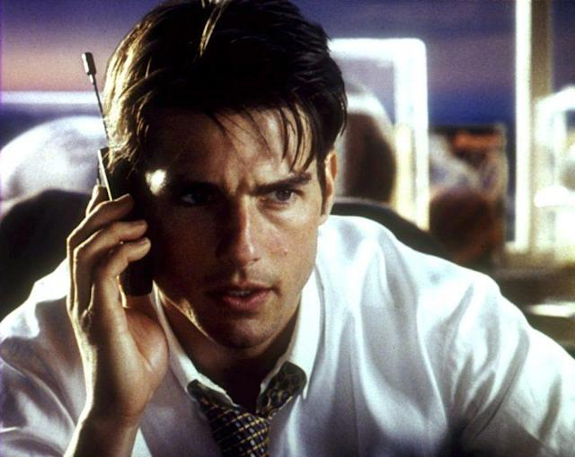 Tom Cruise in Jerry Maguire, 1996. (Photo: TriStar Pictures, Everett Collection)