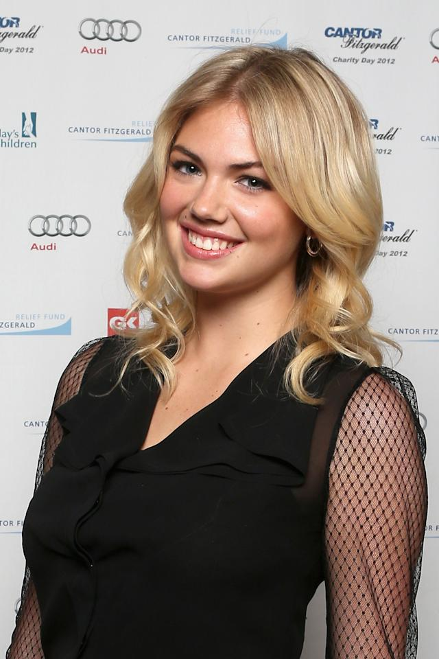 NEW YORK, NY - SEPTEMBER 11:  Model Kate Upton attends Cantor Fitzgerald & BGC Partners host annual charity day on 9/11 to benefit over 100 charities worldwide at Cantor Fitzgerald on September 11, 2012 in New York City.  (Photo by Mike McGregor/Getty Images for Cantor Fitzgerald)
