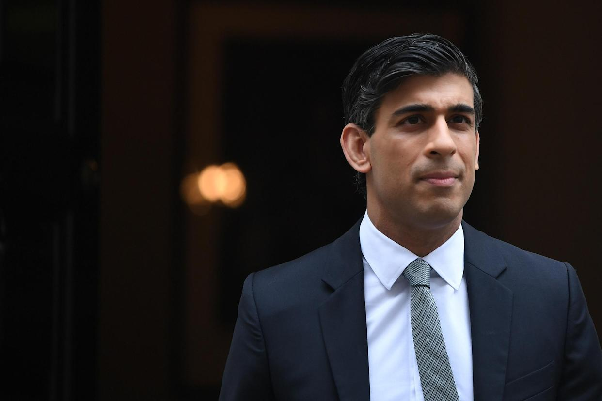 LONDON, ENGLAND - MARCH 03: Chancellor Of The Exchequer, Rishi Sunak stands outside 11 Downing Street ahead of the Chancellor of the Exchequer's delivery of the budget on March 3, 2021 in London, England. The Chancellor, Rishi Sunak, presents his second budget to the House of Commons. He has pledged to protect jobs and livelihoods as the UK economy has faced crisis during the Coronavirus Pandemic. (Photo by Chris J Ratcliffe/Getty Images)