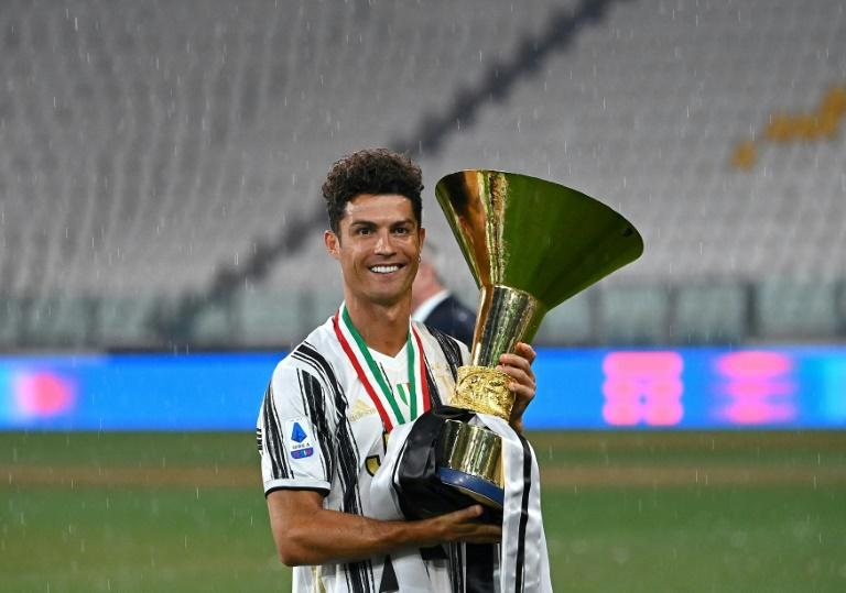 Portuguese forward Cristiano Ronaldo celebrated his second Serie A title with Juventus