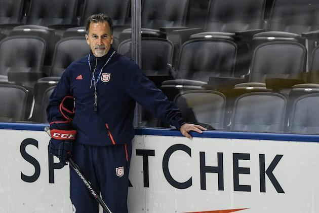 TORONTO, ON – SEPTEMBER 16: Head coach of Team USA John Tortorella looks on during practice at the World Cup of Hockey 2016 at Air Canada Centre on September 16, 2016 in Toronto, Ontario, Canada. (Photo by Minas Panagiotakis/Getty Images)