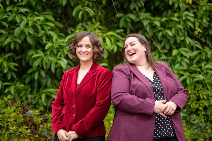 Leila Strickland, left, and Michelle Egger founded Biomilq last year in an effort to create a new alternative to breast milk.