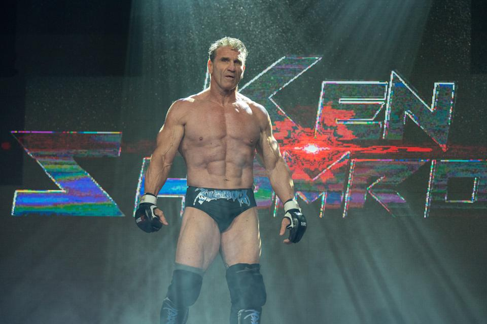 At 56, Ken Shamrock is rediscovering himself in Impact! Wrestling and will be inducted into its Hall of Fame. (Photo credit: Impact! Wrestling)