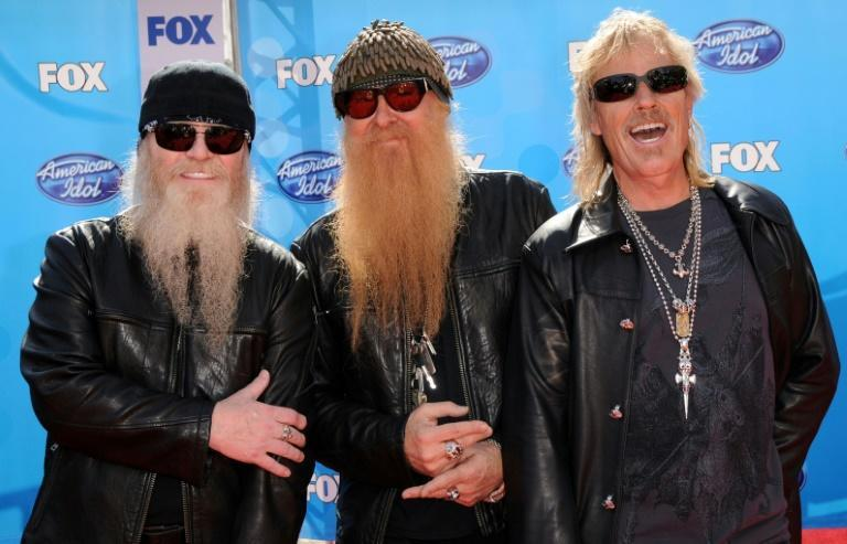 Dusty Hill (L) is seen here with fellow ZZ Top members Billy Gibbons (C) and Frank Beard (R)