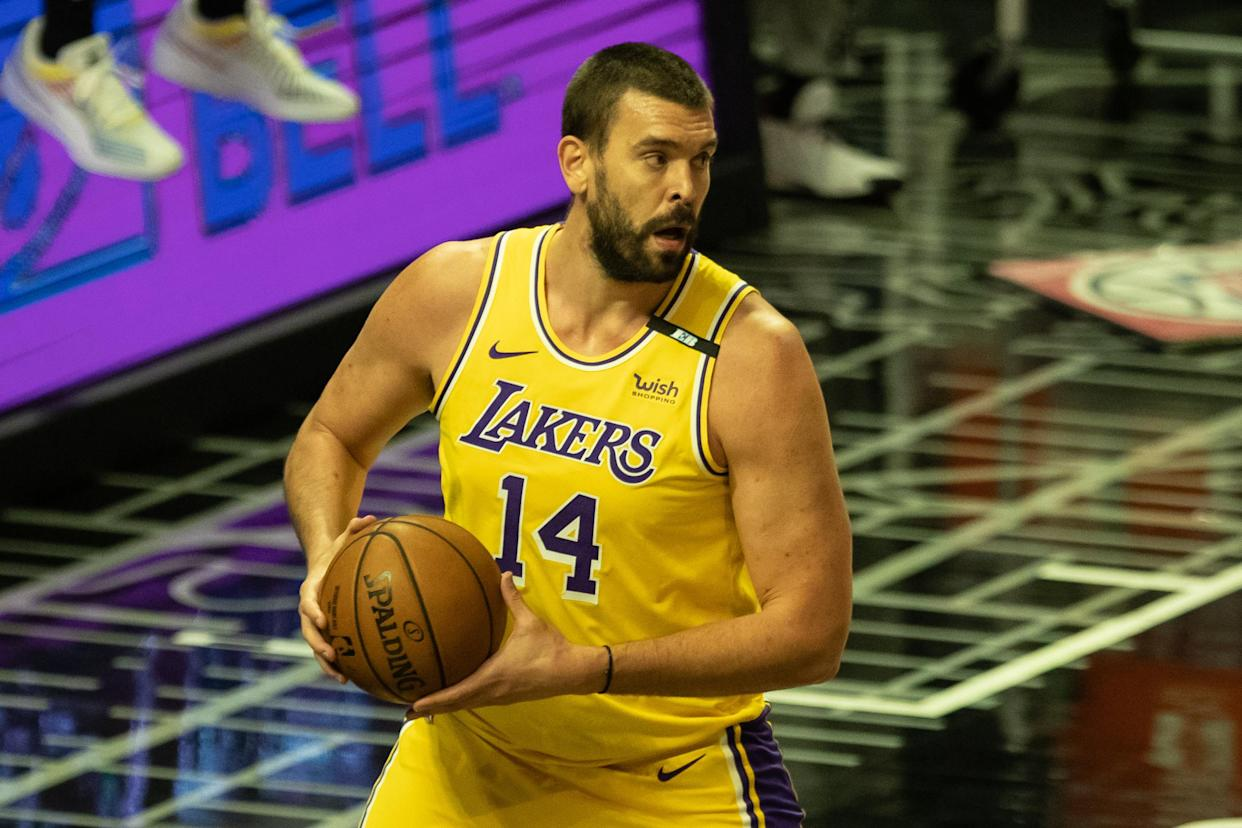 Marc Gasol with the Lakers.