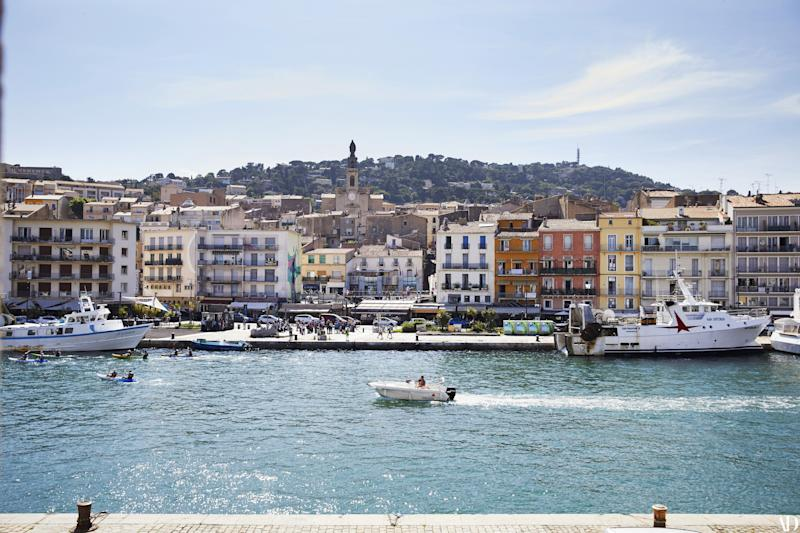 The French port city of Sète is bordered by a saltwater lagoon.