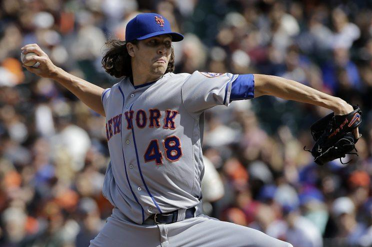 Mets pitcher Jacob deGrom had a solid case for the All-Star Game. (AP Photo)