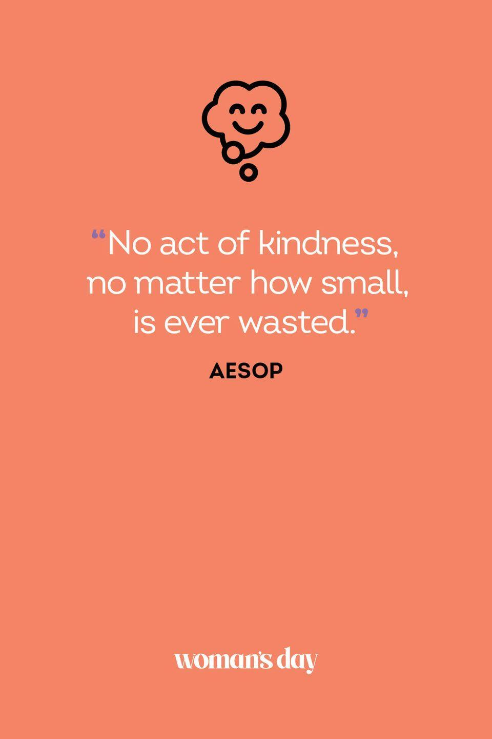 <p>No act of kindness, no matter how small, is ever wasted.</p>