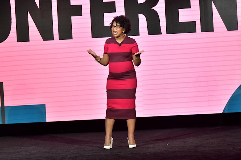 Founder of Well-Read Black Girl Glory Edim speaks onstage during The 2020 MAKERS Conference. (Photo by Emma McIntyre/Getty Images for MAKERS)