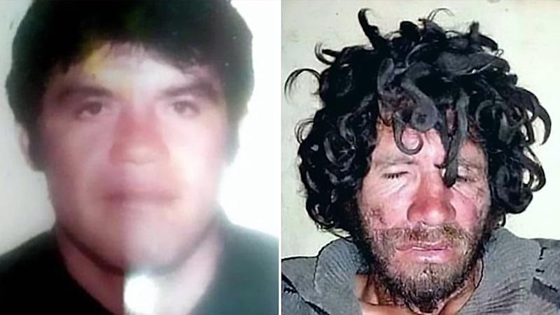 Angel Ramirez Lopez is pictured left before he went missing. He is pictured right almost two decades later. Source: Australscope