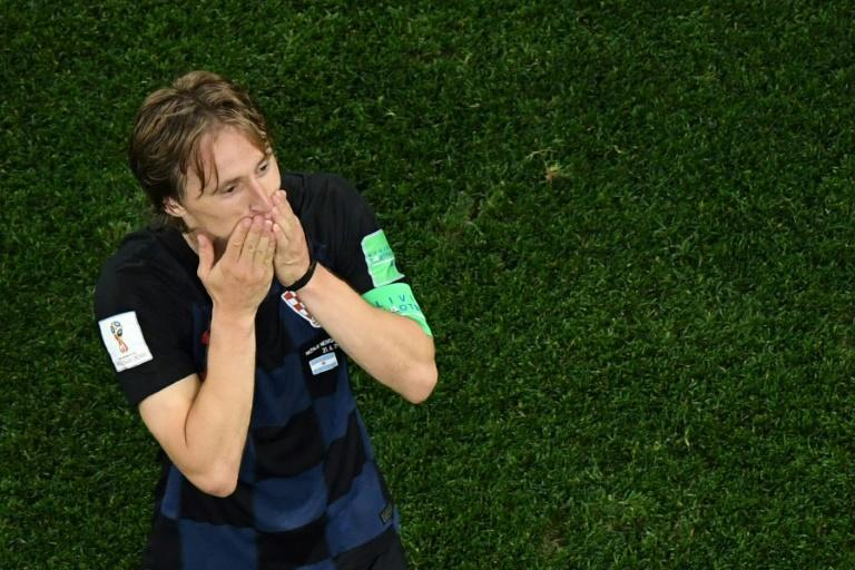 Croatia midfielder Luka Modric celebrates after his side's 3-0 victory against Argentina