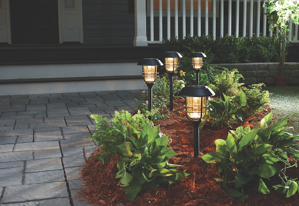 Photo via Canadian TireNOMA Solar Stake lights from Canadian Tire, upgrading front walkway