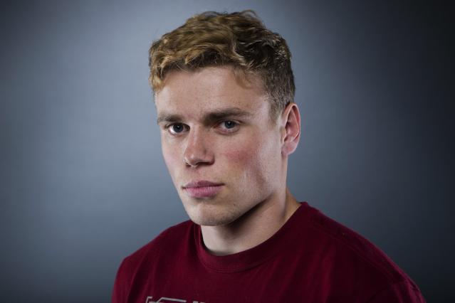 Olympic freestyle skier Gus Kenworthy poses for a portrait during the 2013 U.S. Olympic Team Media Summit in Park City, Utah