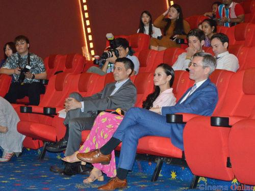 Malaysian actress Sharifah Amani seated to the right of H.E. Frederic Laplanche.