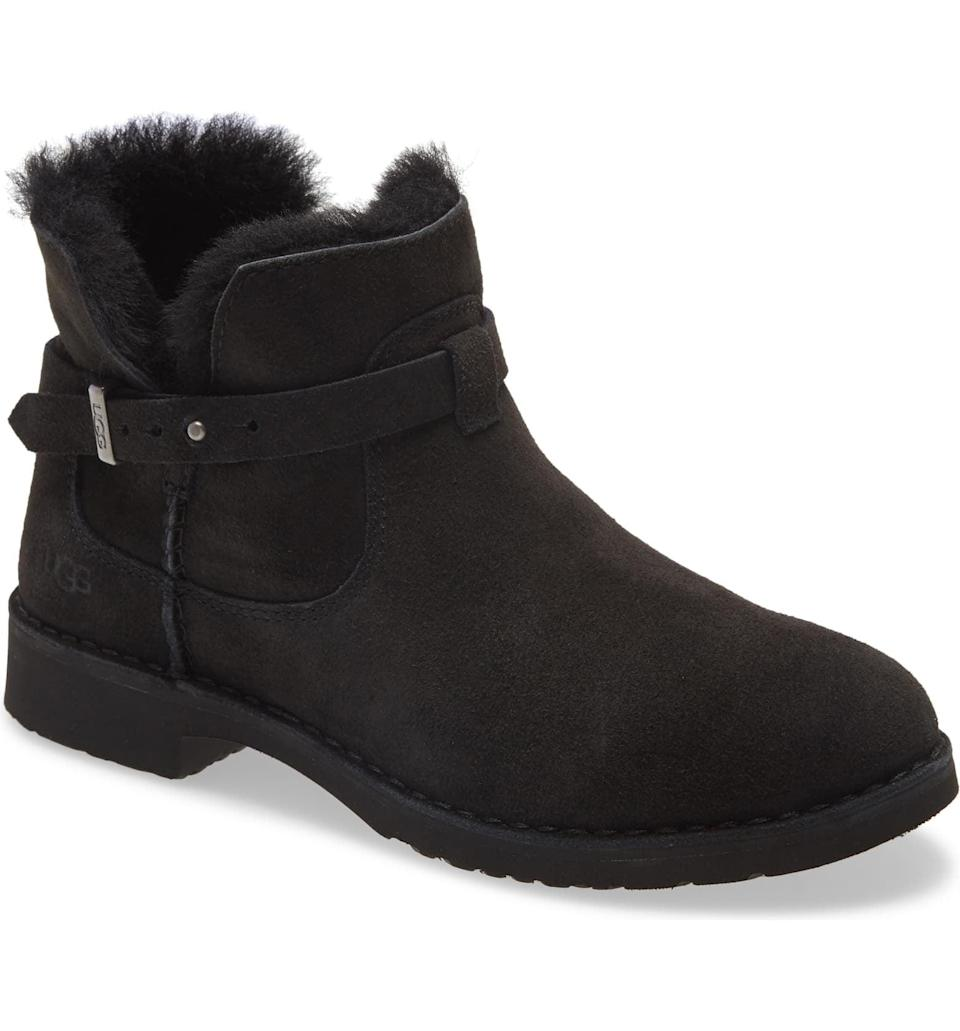 <p>If you want a cozy boot you can confidently wear out of the house, go for this <span>UGG McKay Water Resistant Bootie</span> ($150). Nothing can beat that cozy interior.</p>