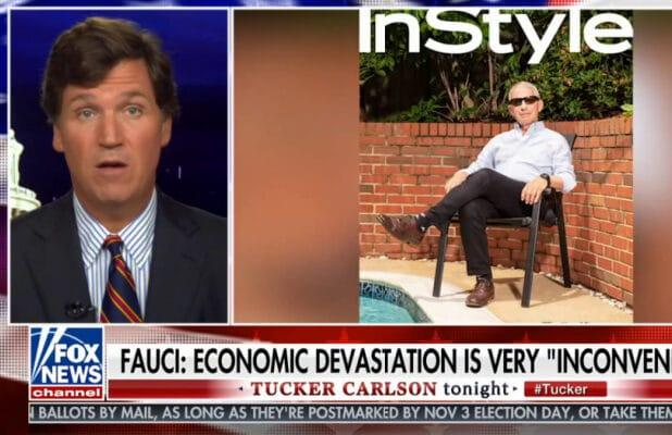 Tucker Carlson Uses Ancient Clip to Claim Dr. Fauci is 'Loving' Coronavirus Lockdowns (Video)