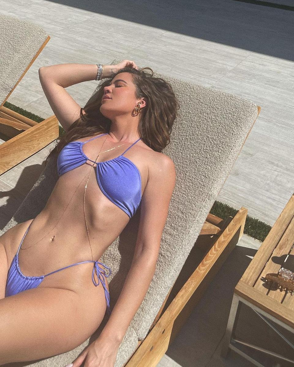 Khloe Kardashian recently made headlines after attempting to take down a photo of herself in a bikini that was circling the Internet as she felt it wasn't flattering. Photo: Khloe Kardashian