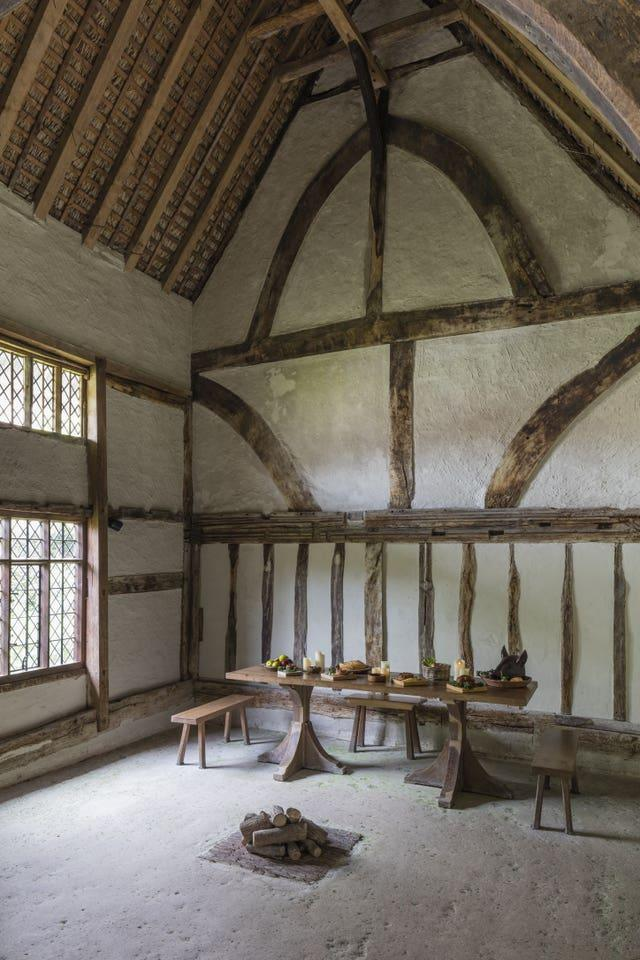 The timber-framed Great Hall at Alfriston