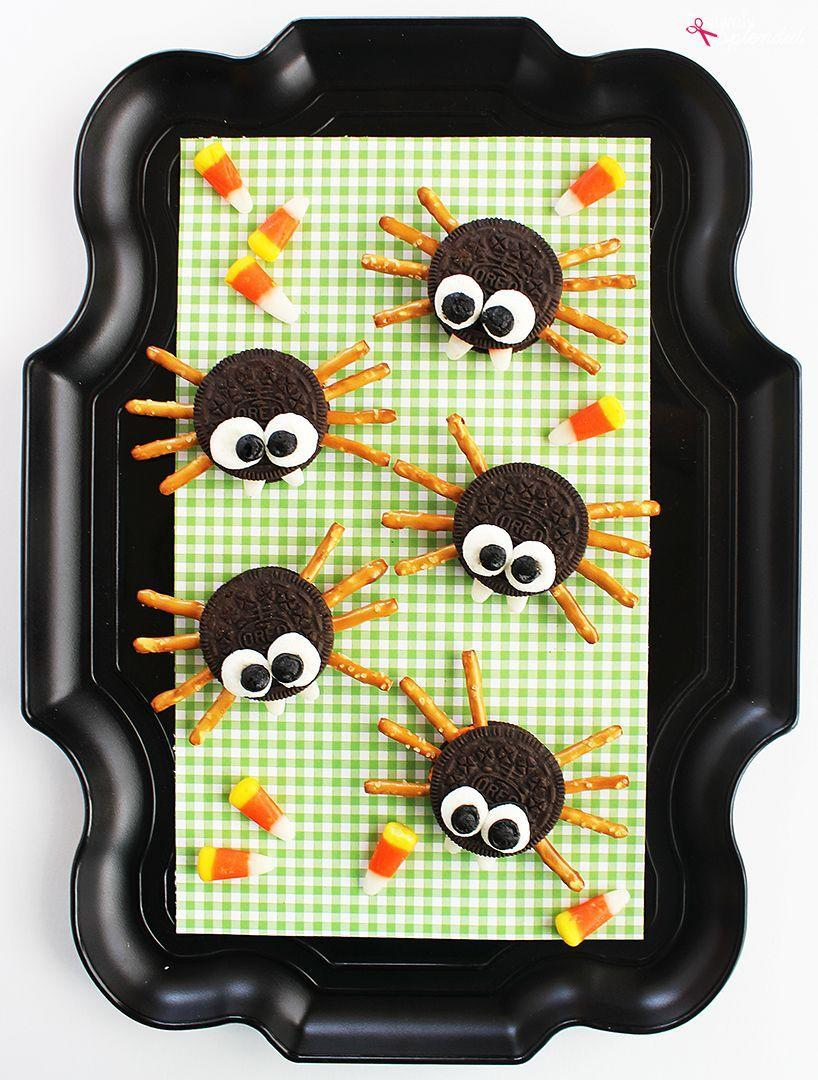 "<p>The only thing better than a Halloween project is one you can eat! These cute spider cookies are just the the thing to make together for an after-school snack.</p><p><strong>Get the tutorial at <a href=""https://www.positivelysplendid.com/oreo-cookie-spiders/"" rel=""nofollow noopener"" target=""_blank"" data-ylk=""slk:Positively Splendid"" class=""link rapid-noclick-resp"">Positively Splendid</a>.</strong></p><p><a class=""link rapid-noclick-resp"" href=""https://www.amazon.com/Zachary-Confections-Corn-Candy-Pound/dp/B002MYF3T0/?tag=syn-yahoo-20&ascsubtag=%5Bartid%7C10050.g.4950%5Bsrc%7Cyahoo-us"" rel=""nofollow noopener"" target=""_blank"" data-ylk=""slk:SHOP CANDY CORN"">SHOP CANDY CORN</a><br></p>"