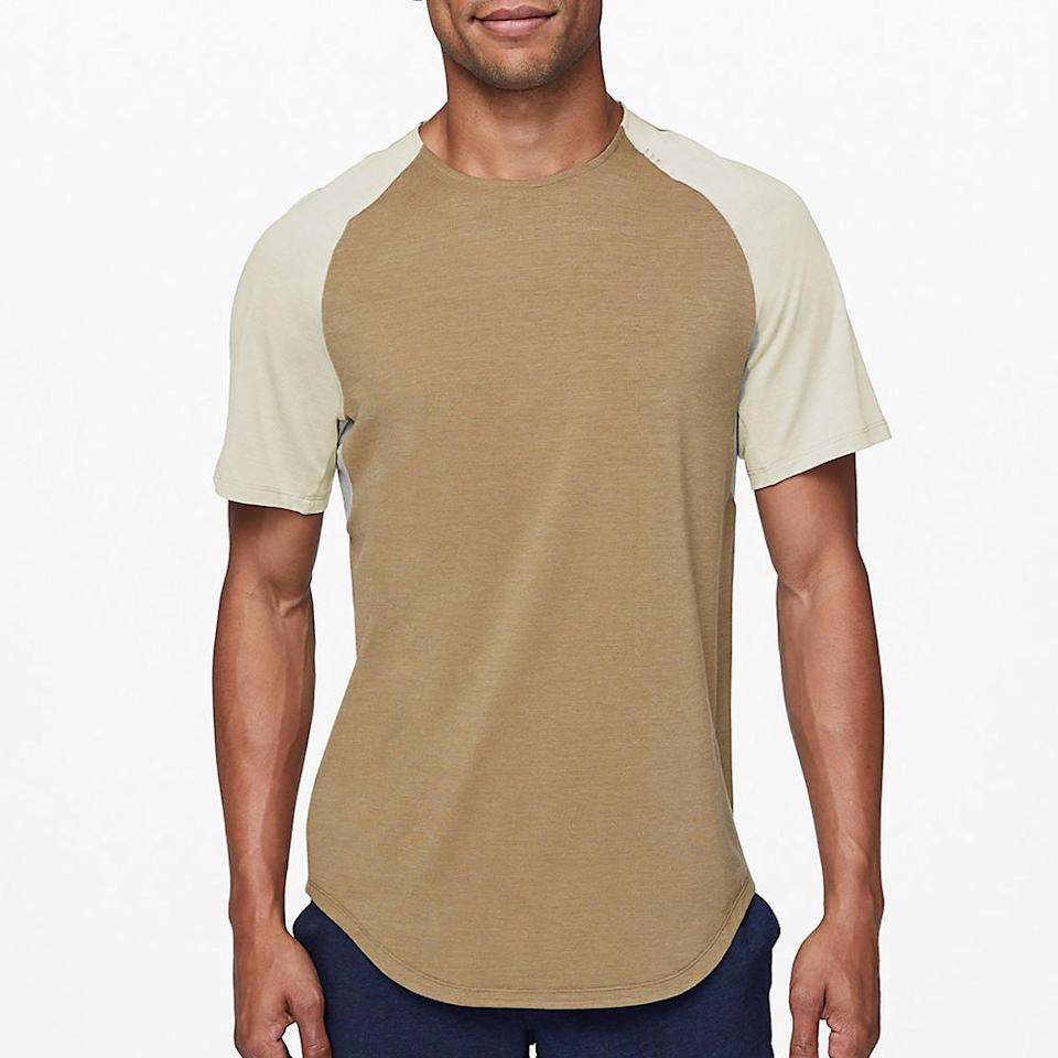 """<p><strong>Lululemon</strong></p><p>lululemon.com</p><p><strong>$78.00</strong></p><p><a href=""""https://go.redirectingat.com?id=74968X1596630&url=https%3A%2F%2Fshop.lululemon.com%2Fp%2Fmen-ss-tops%2FAlways-Agile-Short-Sleeve%2F_%2Fprod9370051&sref=http%3A%2F%2Fwww.menshealth.com%2Fstyle%2Fg27613512%2Flululemon-license-to-train-collection-launch-review%2F"""" target=""""_blank"""">BUY IT HERE</a></p>With quick-drying fabric, ventilation where you need it, and gussets under the arm, this lightweight short sleeve training top is designed to perform and move with you."""