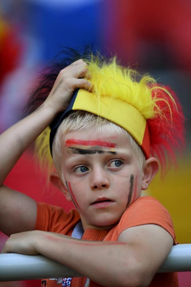 There are few Belgians in Russia despite high expectations for their team (AFP Photo/Patrik STOLLARZ)