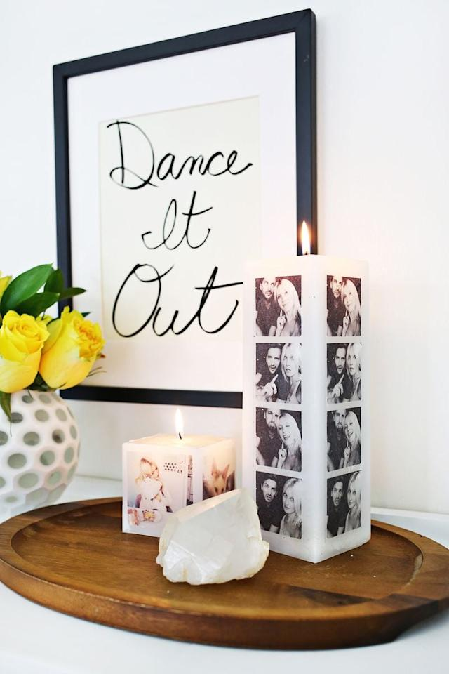 """<p> Make him a candle full of memories with the <a href=""""http://abeautifulmess.com/2015/03/make-your-own-photo-candle.html"""" target=""""_blank"""" class=""""ga-track"""" data-ga-category=""""Related"""" data-ga-label=""""http://abeautifulmess.com/2015/03/make-your-own-photo-candle.html"""" data-ga-action=""""In-Line Links"""">photo candle holder</a>.</p>"""
