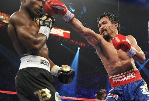 Manny Pacquiao (right) fights Timothy Bradley (left) for the WBO welterweight title on June 9 in Las Vegas