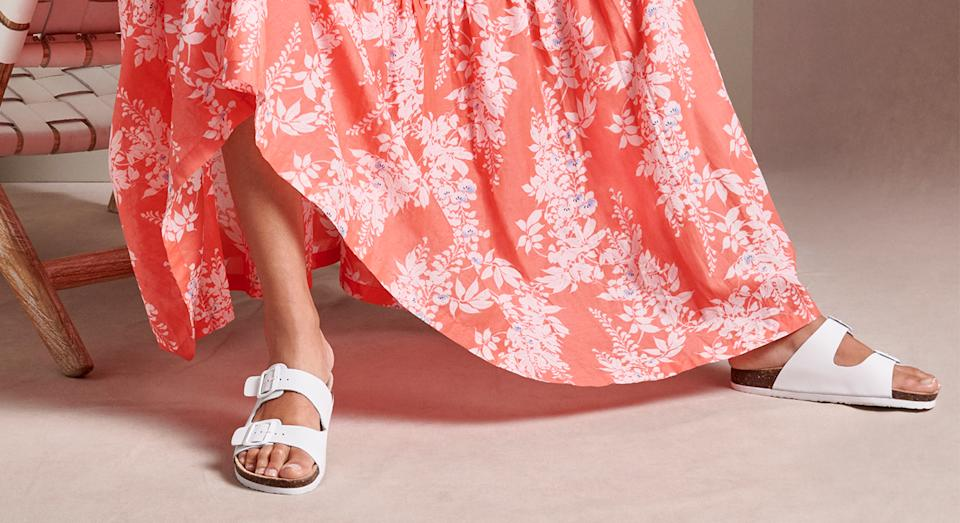 Marks & Spencer's £18 leather open toe sandals have been likened to Birkenstocks, and they're our summer must have. (Getty Images)