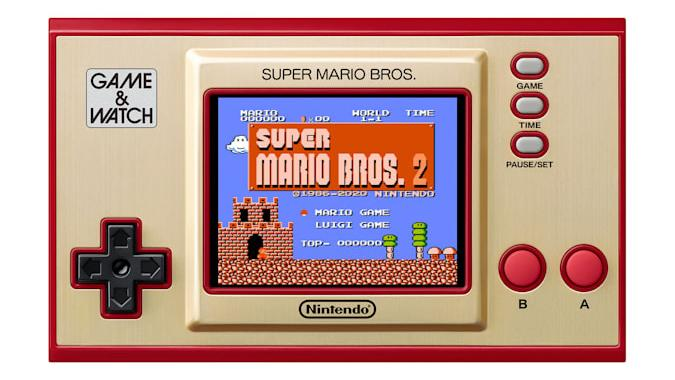 Super Mario Bros. Game & Watch with 'Super Mario Bros. 2' on the screen.