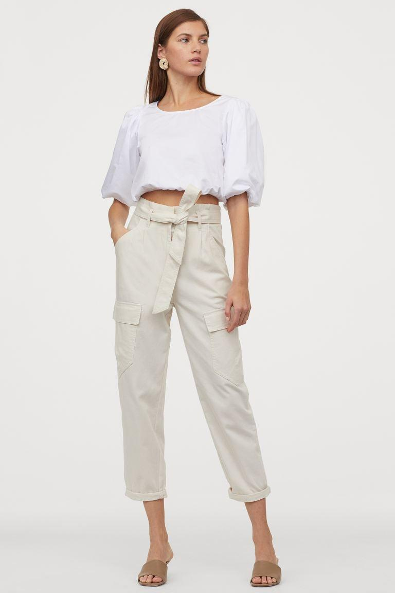 <p>We're loving the cargo pockets on these <span>H&amp;M Cotton Utility Pants</span> ($25).</p>