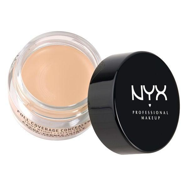"""<p>The <a href=""""https://www.popsugar.com/buy/NYX-Professional-Makeup-Concealer-Jar-584909?p_name=NYX%20Professional%20Makeup%20Concealer%20Jar&retailer=nyxcosmetics.ca&pid=584909&price=8&evar1=bella%3Aus&evar9=41810731&evar98=https%3A%2F%2Fwww.popsugar.com%2Fbeauty%2Fphoto-gallery%2F41810731%2Fimage%2F41810734%2FNYX-Professional-Makeup-Concealer-Jar&list1=makeup%2Cbeauty%20products%2Cbeauty%20shopping%2Cnyx%2Cbeauty%20review&prop13=api&pdata=1"""" class=""""link rapid-noclick-resp"""" rel=""""nofollow noopener"""" target=""""_blank"""" data-ylk=""""slk:NYX Professional Makeup Concealer Jar"""">NYX Professional Makeup Concealer Jar</a> ($8) is intensely creamy, full-coverage, and a must for your beauty arsenal. This concealer will cover anything from hyperpigmentation to pimples and dark circles, and its thick, soft formula is perfect for dry skin. It's also available in four color-correcting tones.</p>"""