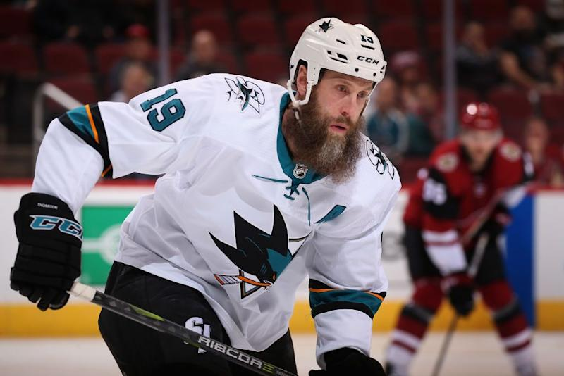 San Jose Sharks Joe Thornton Out Several Weeks After MCL Tear