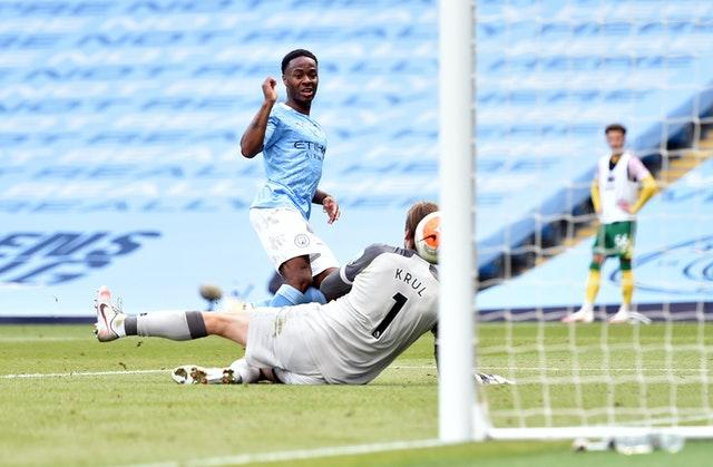 Raheem Sterling was in the goals again
